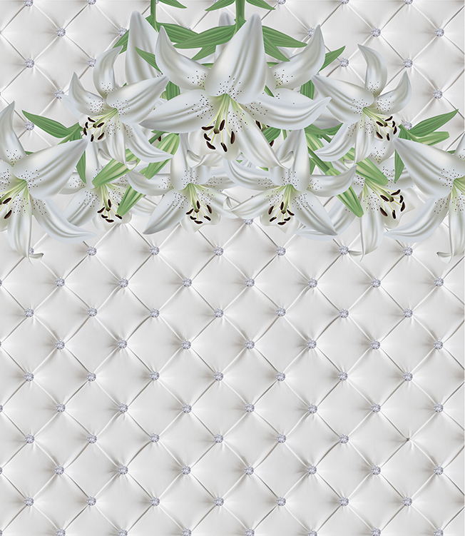 3Д лилии