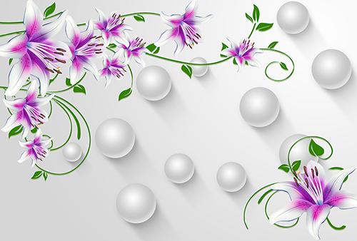 3Д цветы и шары