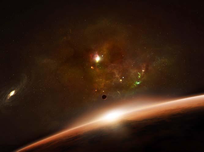 Восход в космосе