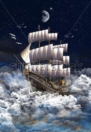 Корабль в облаках