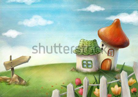 Каталог Фотообои домики:  | Wall-Style