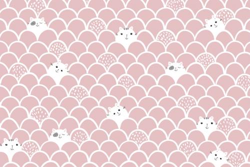 Каталог Картина котики на розовом фоне: Детские   Wall-Style