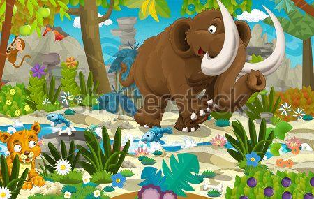 Каталог Картина мамонт: Детские   Wall-Style