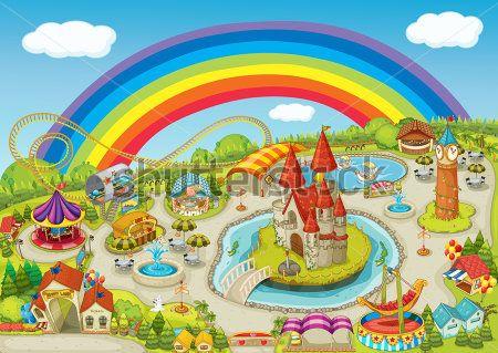 Каталог Картина парк развлечений: Детские   Wall-Style