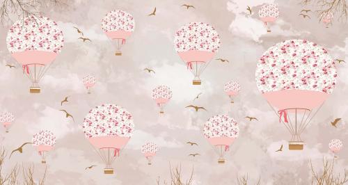 Каталог Фотообои розовые воздушные шары:  | Wall-Style