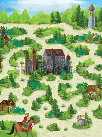 Каталог Картина сказочный лес: Детские   Wall-Style