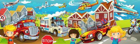 Каталог Картина пожарные машинки: Детские | Wall-Style