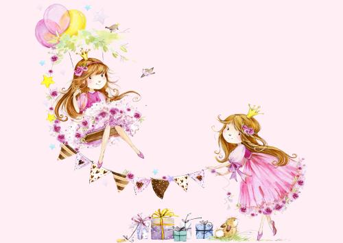 Каталог Картина принцессы: Детские | Wall-Style