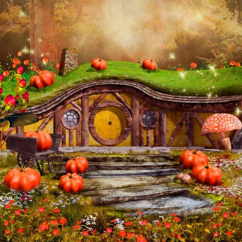 Каталог Картина домик с грибочками: Детские | Wall-Style