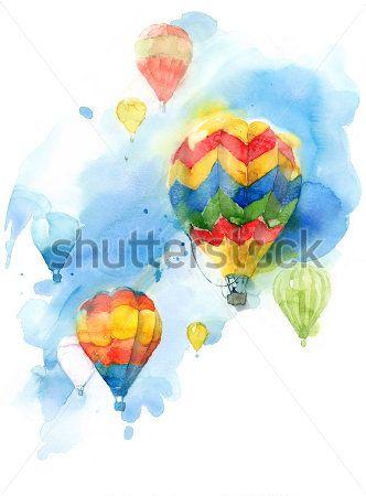 Каталог Картина воздушные шары: Детские | Wall-Style