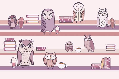 Каталог Картина совы с книгами: Детские | Wall-Style