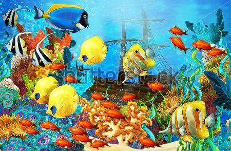 Каталог Картина рыбки: Детские   Wall-Style