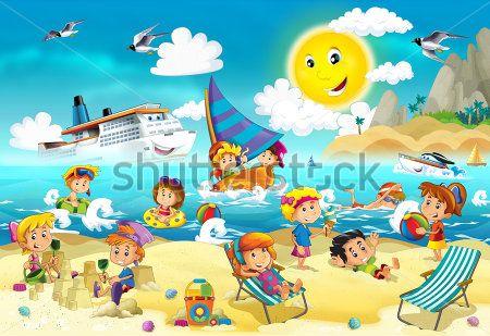 Каталог Картина пляжный отдых: Детские | Wall-Style