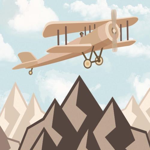 Каталог Картина самолет ультралайт: Детские   Wall-Style