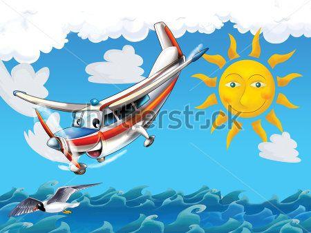 Каталог Фотообои самолет над морем:  | Wall-Style