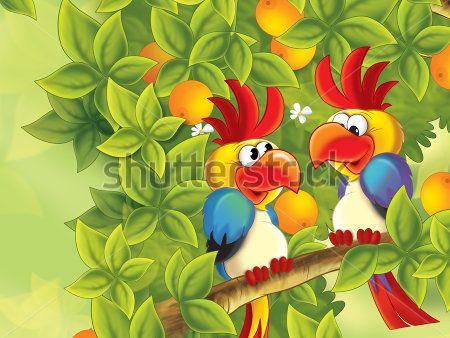 Каталог Картина попугаи: Детские | Wall-Style
