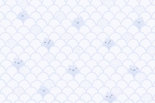 Каталог Фотообои голубой паттерн с птенцами:  | Wall-Style