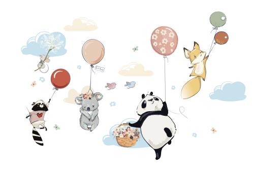 Каталог Картина животные на шарах: Детские | Wall-Style