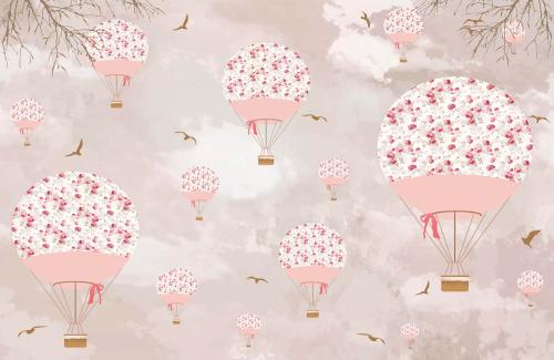 Каталог Картина цветочные воздушные шары: Детские | Wall-Style