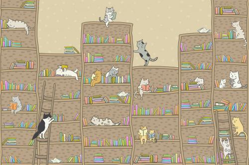 Каталог Фотообои котята на полках:  | Wall-Style