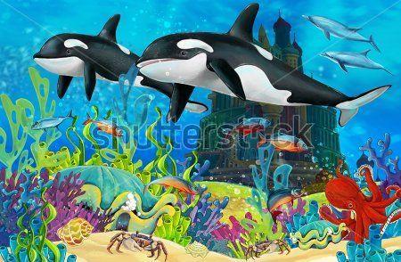 Каталог Фотообои подводное царство:  | Wall-Style