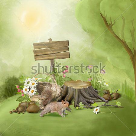 Каталог Картина белочка: Детские   Wall-Style