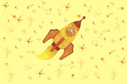 Каталог Картина лисичка в космосе: Детские | Wall-Style