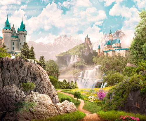 Каталог Картина замок на горе: Детские | Wall-Style