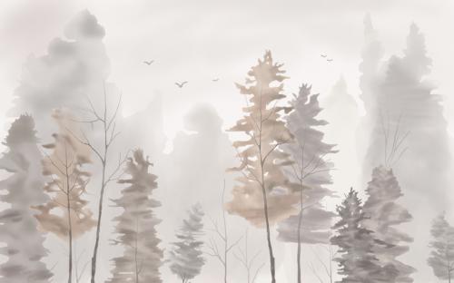 Каталог Фотообои акварельный лес:    Wall-Style
