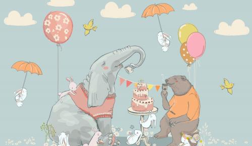 Каталог Картина день рождение слона: Детские | Wall-Style