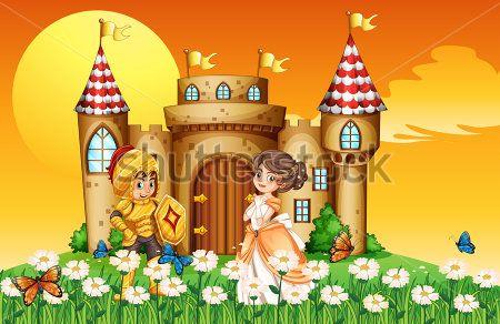 Каталог Картина рыцарь и принцесса: Детские   Wall-Style
