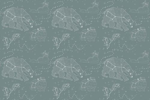 Каталог Картина зеленые созвездия: Детские | Wall-Style