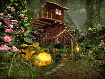 Каталог Картина дом в лесу: Детские | Wall-Style