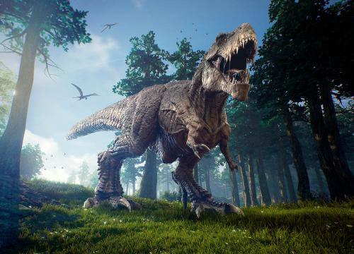 Каталог Картина динозавр в лесу: Детские   Wall-Style