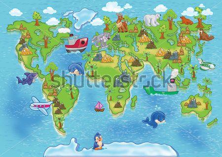 Каталог Фотообои карта мира:  | Wall-Style