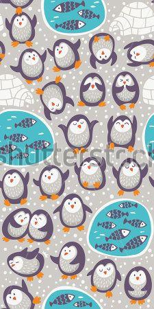 Каталог Картина пингвины: Детские   Wall-Style