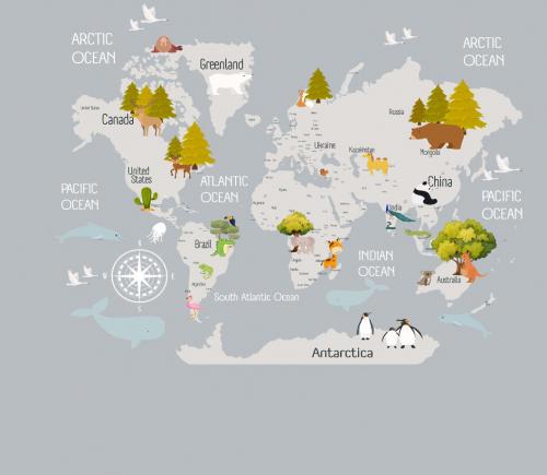 Каталог Фотообои карта:  | Wall-Style