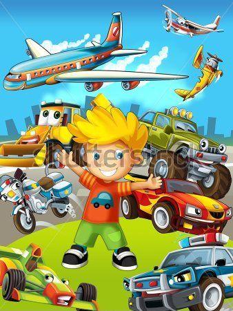 Каталог Картина машинки и самолет: Детские | Wall-Style