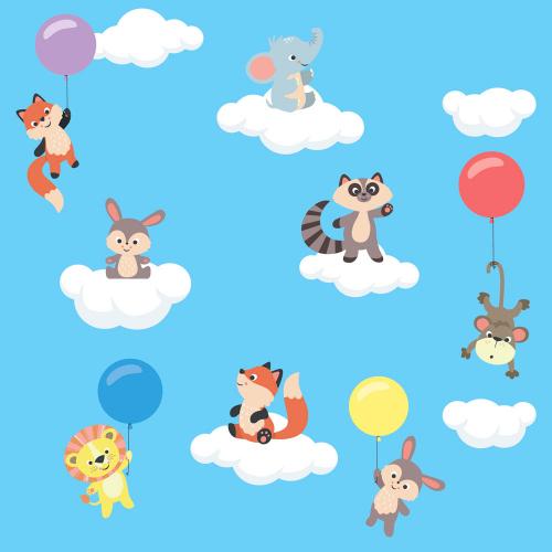 Каталог Картина животные на облачках: Детские | Wall-Style