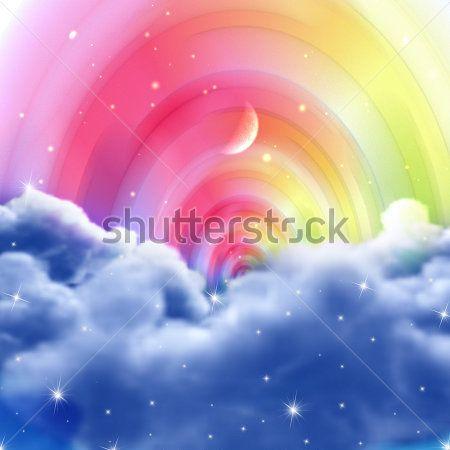 Каталог Картина радужное небо: Детские | Wall-Style