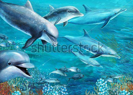 Каталог Фотообои дельфины:  | Wall-Style
