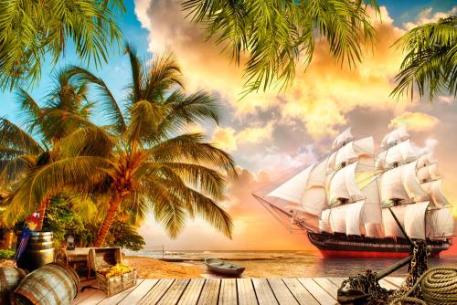Каталог Фотообои пиратская бухта:  | Wall-Style