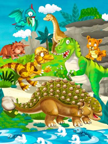 Каталог Фотообои динозавры:  | Wall-Style