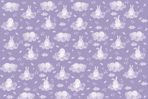 Каталог Картина зайки на фиолетовых облаках: Детские   Wall-Style
