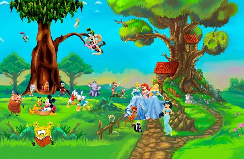 Каталог Картина герои мультфильмов: Детские   Wall-Style