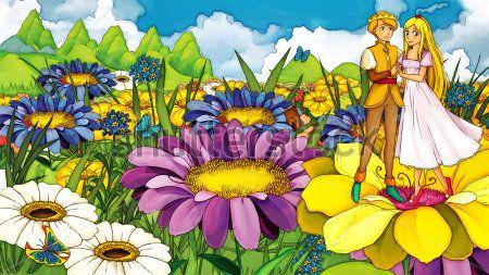 Каталог Картина дюймовочка в цветах: Детские | Wall-Style