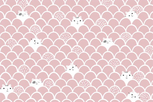 Каталог Фотообои котики на розовом фоне:    Wall-Style