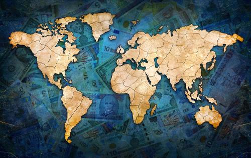 Каталог Фотообои денежная карта:  | Wall-Style