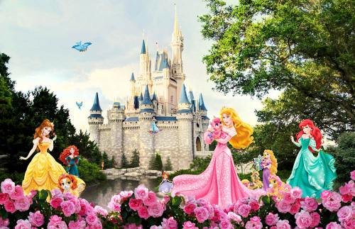 Каталог Фотообои принцессы у замка дисней:  | Wall-Style