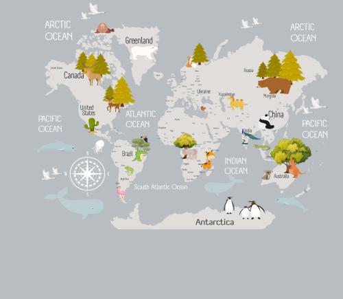 Каталог Картина карта: Детские   Wall-Style